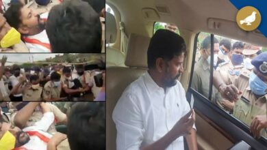 Photo of Revanth reddy arrested on way to Srisailam