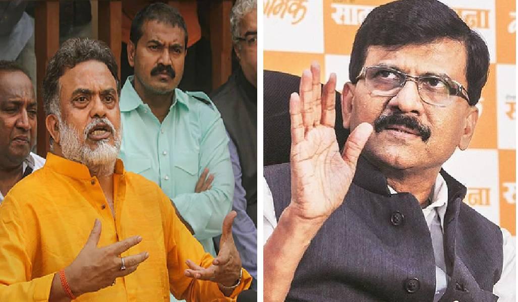 (Right0 Congress leader Sanjay Nirupam, (left) Shiv Sena leader Sanjay Raut