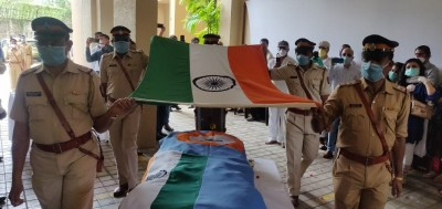 Sathe accorded hero's farewell, cremated with full state honours (2nd Ld)