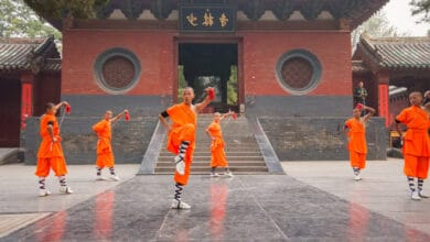 Photo of The Shaolin temple and Indian monks!