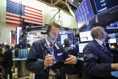 US stocks end higher as tech shares rally