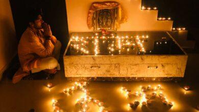 Photo of Vikram Mastal aka Hanuman offers prayers for Ram Mandir Bhoomi Pujan