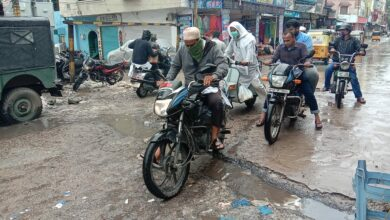 Photo of Potholes back on Hyderabad roads