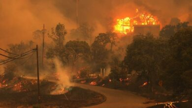 Photo of Caused by 11,000 lightning strikes, California fires threaten thousands of homes