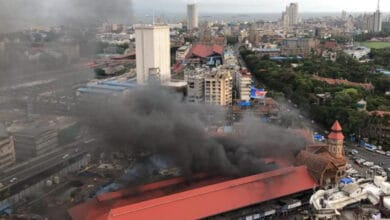 Photo of Fire breaks out at Mumbai's Crawford Market