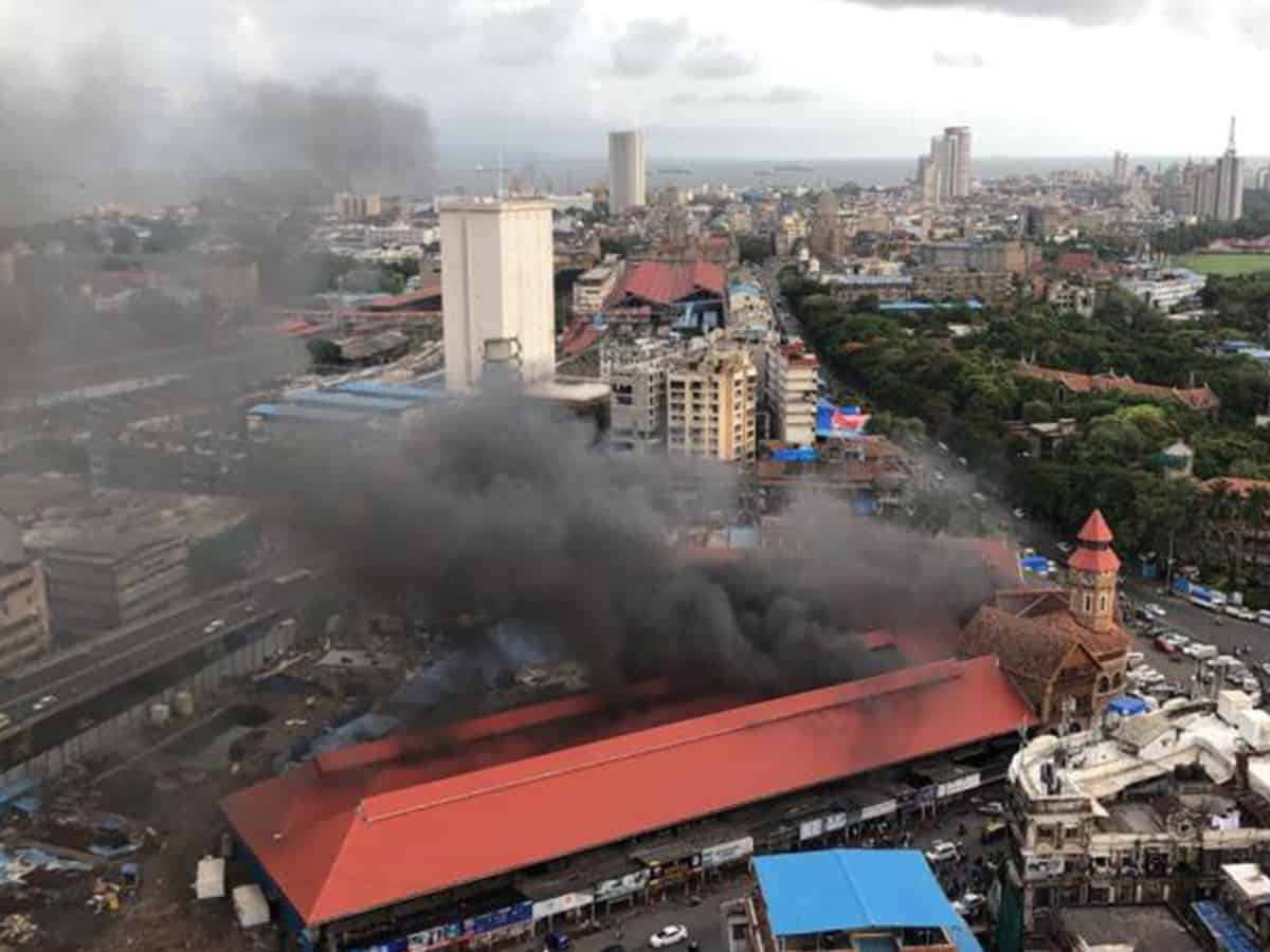Fire breaks out at Mumbai's Crawford Market