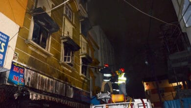 Photo of Fire breaks out at textile shop in Hyderabad