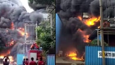 Photo of Massive fire at a chemical factory in Vapi GIDC, Gujarat