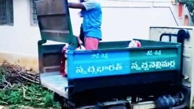 Photo of Andhra COVID patients shifted to hospital in garbage vehicle