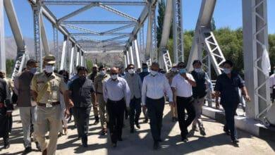 Photo of Governor Radha Krishna inaugurates Ladakh's 1st double-lane bridge