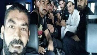 Photo of Lawyers, cops pose for selfie with murderer of blasphemy accused