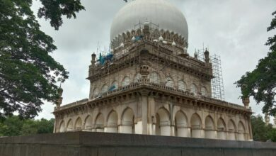 Photo of Conservation work of Qutub Shahi Tombs