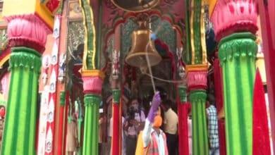 Photo of Hanumangarhi temple being sanitised ahead of PM Modi's visit on Aug 5