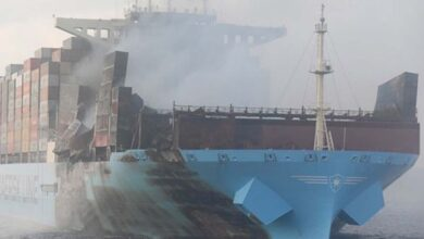 Photo of Cargo ship in troubled waters off Mumbai