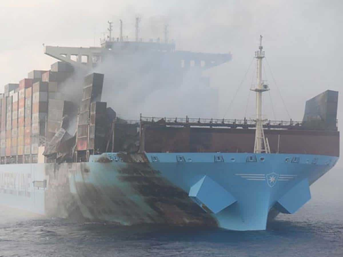 Cargo ship in troubled waters off Mumbai