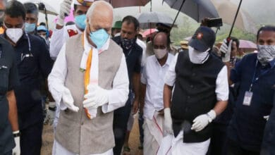 Photo of Kerala CM visit Idukki's landslide site as death toll rises to 55