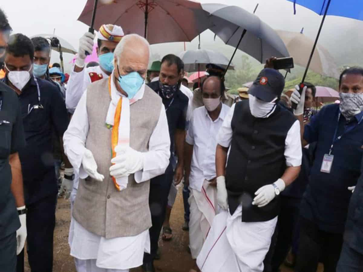 Kerala Governor, CM visit Idukki's landslide site as death toll rises to 55