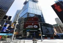 Photo of No display of images of Ram Temple in Times Square on August 5