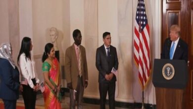 Photo of Trump welcomes Indian as new US citizen at White House rite