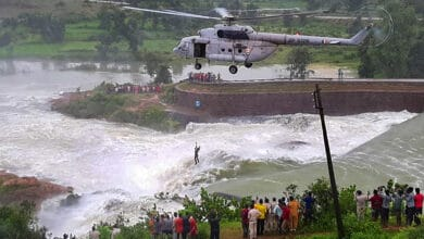 Photo of IAF rescues man at Khutaghat Dam in Chhattisgarh