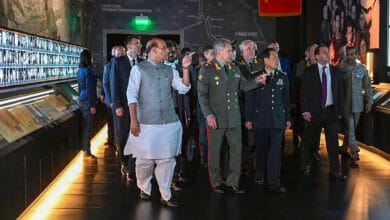Photo of Defence Minister Rajnath Singh in Moscow