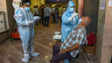 Photo of Rapid Antigen test of shopkeepers in Srinagar