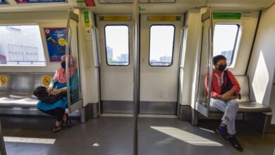 Photo of DMRC's Blue and Pink Line services resume