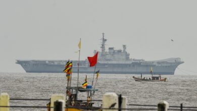 Photo of INS Viraat set sail for the last time
