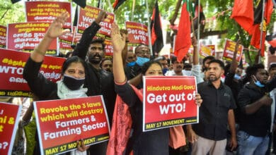 Photo of Protest against the farm bills in Chennai