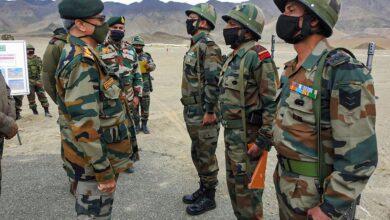 Photo of Army Chief in Ladakh