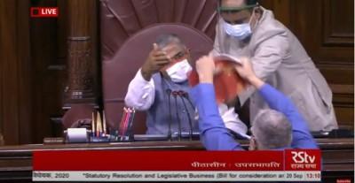 Aggressive Derek tears documents, opposition force brief adjournment