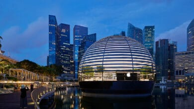 Photo of World's first floating Apple store to open Thursday in Singapore