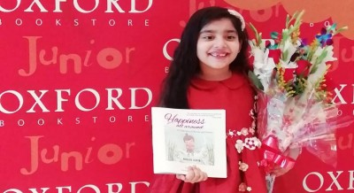 At 7, child prodigy honours literary legacy with first book