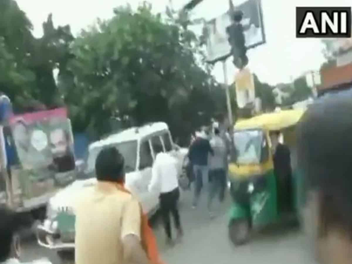 BJP and JAP workers clash in Patna