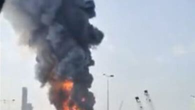 Photo of A month after blast, a massive fire breaks out at Beirut port