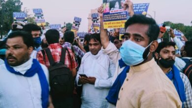 Photo of Hathras rape: Members of Bheem Army, AISA detained as they gather at India Gate