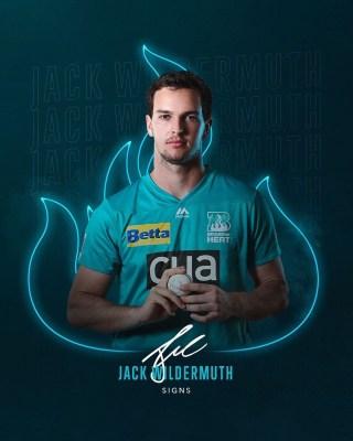Brisbane Heat sign all-rounder Jack Wildermuth for BBL 10