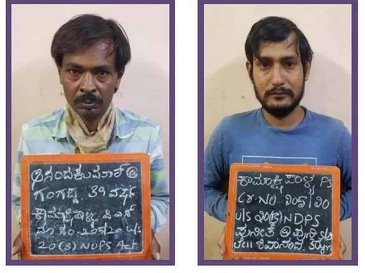 Police seize 17 kg cannabis in Bengaluru, 2 held