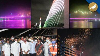 Photo of Durgam Cheruvu cable bridge opened in Hyderabad