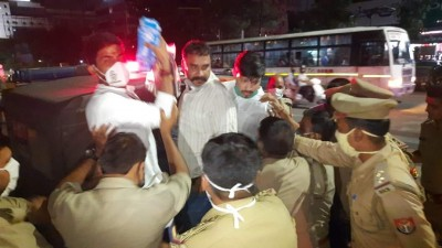 Congress protest thwarted by police in Lucknow