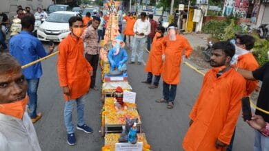 Photo of Corona factored Ganesh immersion; low turnout from Balapur to Tank Bund