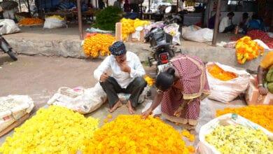 Photo of Guddimalkapur market deserted for lack of Hyderabadi visitors