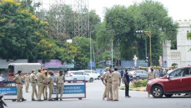 Photo of Security beefed up at Telangana Legislative Assembly after a man sets himself ablaze