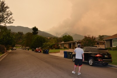 Evacuation order issued over massive wildfire near California city
