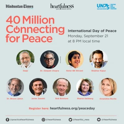 Find and experience peace on September 21