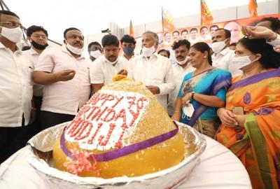 K'taka BJP celebrates Modi's birthday with social service