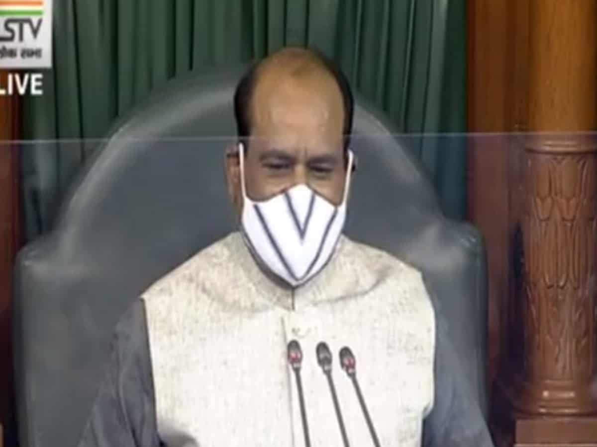 Lok Sabha adjourned for an hour following sloganeering by Opposition MPs