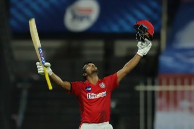 Mayank Agarwal scores maiden IPL ton