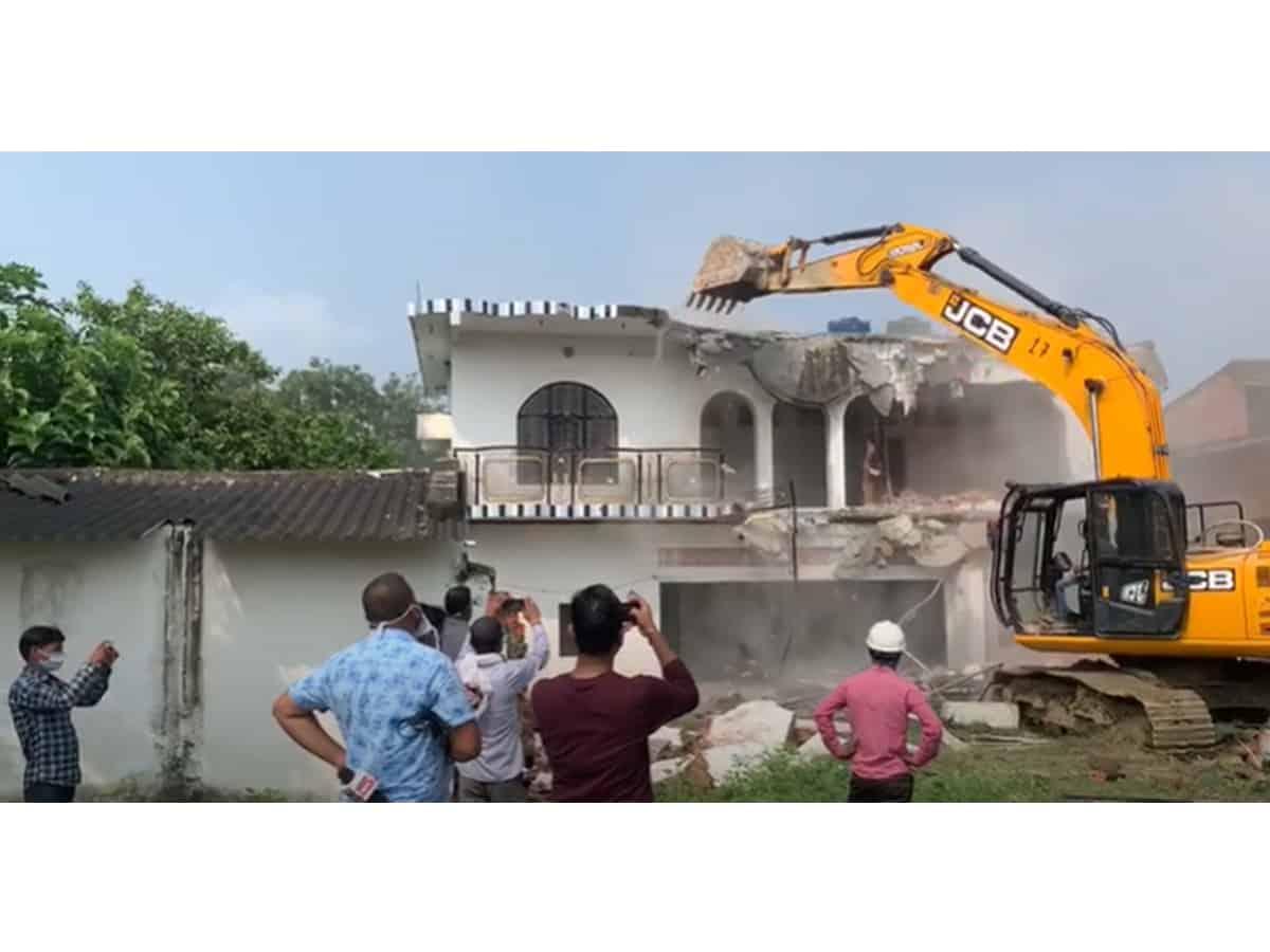 UP govt demolishes Rs 1-crore house of gangster Khan Mubarak