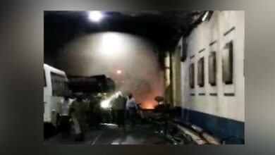 Photo of Fire at Srisailam powerplant, later clarified as mockdrill